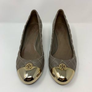 Tory Burch Kaitlin Quilted Cap-Toe Pump